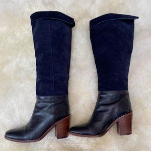 VERO CUGIO Leather/suede black boot. Size 7m